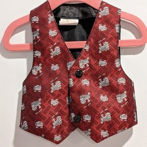 2/$20 Baby boy train vest waist coat 18 months